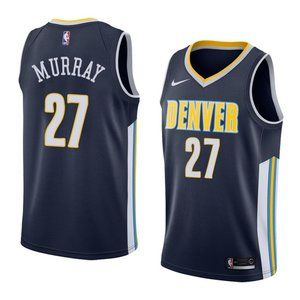 Denver Nuggets Jamal Murray Navy Jersey 1
